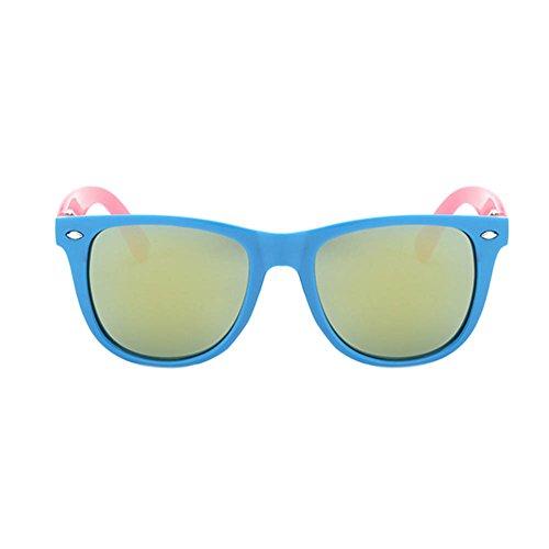 Haodasi Lunettes de soleil mode rétro, lunettes pour enfants UV400 blue