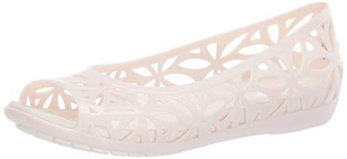 Crocs isabella jelly ii flat w, ballerine punta aperta donna, rosa (barely pink/oyster 6pm), 36/37 eu