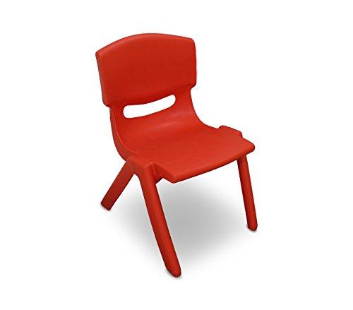 173710 sedia colorata per bambini in plastica resistente 26 x 30 x 55 cm. media wave store (rosso)