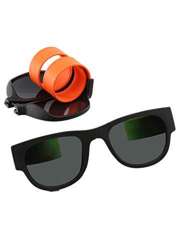 Aoweika Sonnenbrille Faltender Froschspiegel Sonnenbrillen im Freien Reiten Strandspiegel, Ring Gläser Polarisator