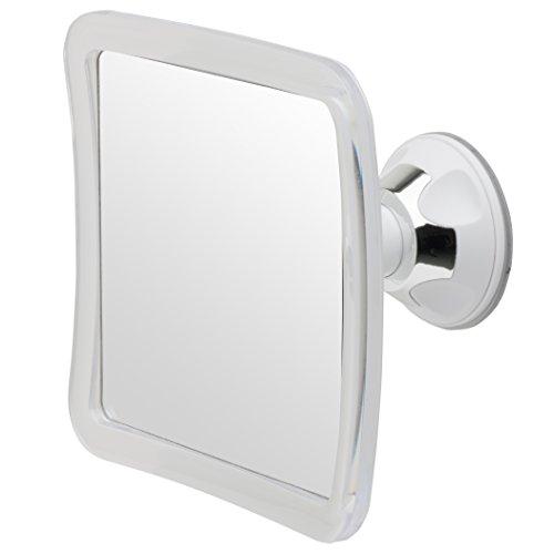 Mirrorvana Espejo de Ducha y Afeitado sin vaho Base de Ventosa, Aumento 3X, 6,3 x 6,3 Pulgadas