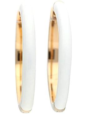 Esprit Jewels Damen-Creolen Edelstahl Fancy white rose ESCO11656G000