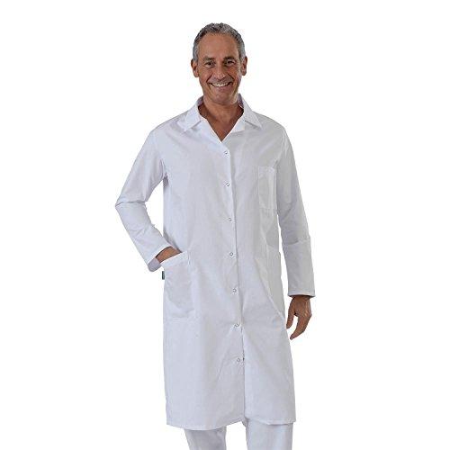 Label blouse Blouse Chimie laboratoire balnche 100 % coton fermeture pression Sergé 210 gramme Couleurs Blanc