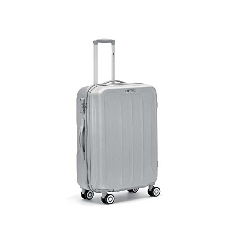 Trolley Medio 4R - RONCATO FLIGHT - Abs Light - TSA - (ARGENTO)