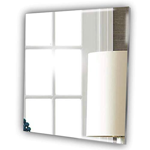 Mirrors-Interiors Decorativo Cuadrado sin Marco Espejo–sin Necesidad de no DIY uñas–Kit Completo–baño–Cualquier habitación–Espejo de Pared, acrílico, 30 cm