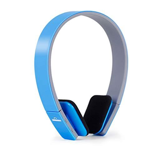 Schwere Bass-Handy-Universal-Stereo-Wireless-Sportkopfhörer mit Bluetooth-Headset (Color : Blue)