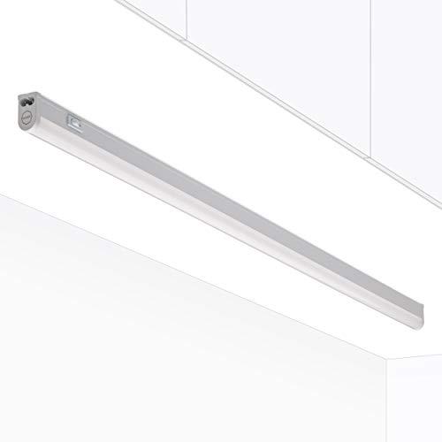 LED Unterbauleuchte Küche Riga 13 Watt   Warmweiß 3000 K mit Schalter   Küchenleuchte für 90 cm Schrank   Küchenunterbauleuchte Regal   Oktaplex Lighting