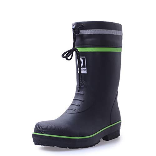 ZYFXZ Sicherheitsschuhe Männer Gummiknöchel Wellies, wasserdichte Regen Schuhe, Stahlkappe Wellington Sicherheit Arbeitsstiefel, rutsch GummiOutsole Arbeitsschuhe (Color : A1, Size : 41)