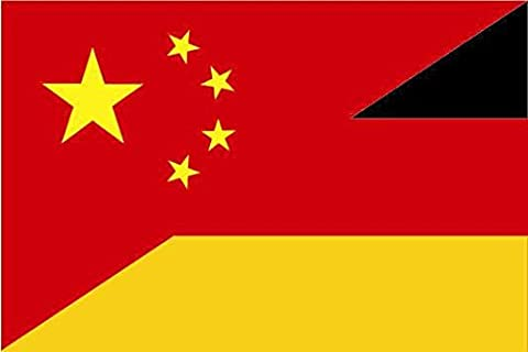 U24 Fahne Flagge China-Deutschland Bootsflagge Premiumqualität 20 x 30 cm