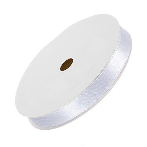 10 mm-Nastro doppio in raso, per bordature, colore: bianco, 7 m
