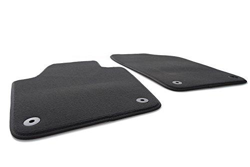 kh Teile Fußmatten / Velours Automatten Original Qualität Stoffmatten 2-teilig schwarz