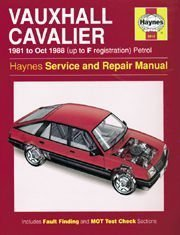Vauxhall Cavalier Front Wheel Drive (1981 to Oct 1988) (Haynes Service and Repair Manuals no 0812) by Ian Coomber (1995-07-15)