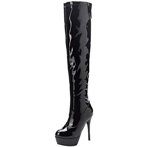 wholesale dealer 14135 d1041 ✓ Lackstiefel Schwarz Damen Vergleich - Schuhe für Jede ...