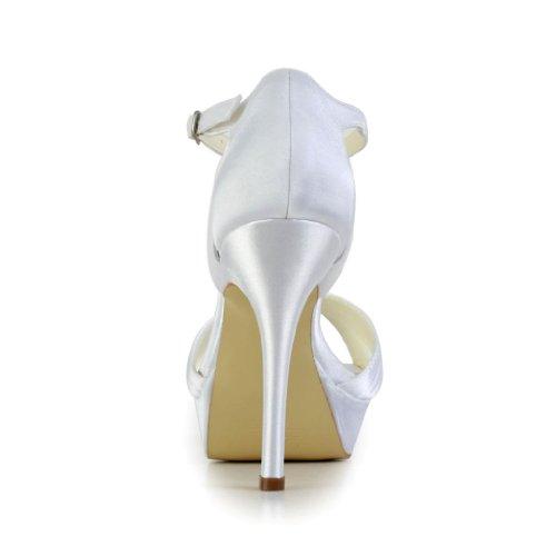 Jia Jia Wedding 1291 chaussures de mariée mariage Escarpins pour femme Blanc