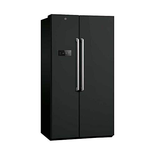 Hoover HSBSF 178BK American Style Total No Frost Black Fridge Freezer Best Price and Cheapest