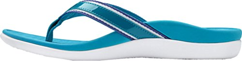 Vionic Womens Islander Tide Sport Leather Sandals Bleu