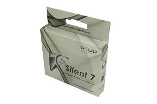 GELID Solutions Silent 7 - 3-Pin Lüfter von 70mm für Standard case. Leiser Betrieb. Optimierte Lüfterblätter. Hoher Luftstrom. Hoher statischer Druck