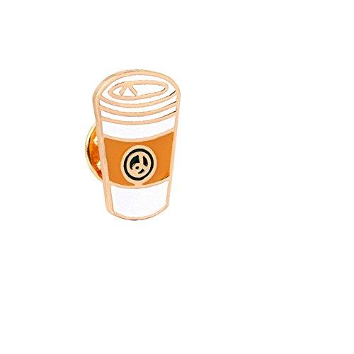 he Kragen Anstecker Brosche Damen Kaffeetassen Broschen Weiß Mädchen 1 Stück Cartoon (Kirsche Zuckerstangen)