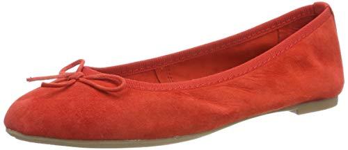 Marco Tozzi 2-2-22144-32, Bailarinas para Mujer, Rojo Red 500, 40 EU