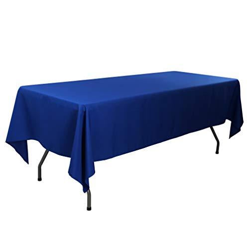 Polyester Tischdecke, rechteckig,, Polyester-Mischgewebe, königsblau, 60x102-Inch ()