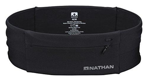 Nathan the Zipster Riñonera de Entrenamiento, Unisex Adulto, Gris (Black), M