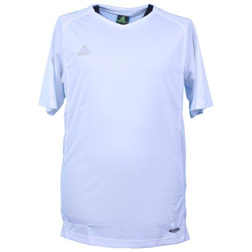 Peak Sport Europe aufwärm et Shooting Energy t-Shirt de Course à Pied L Blanc - Blanc
