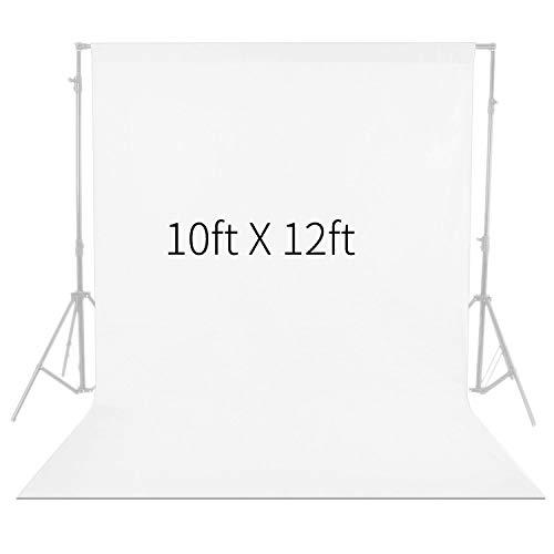 Neewer 10x 12ft/3x 3.6m Foto Studio 100% Chiffon Pure zusammenklappbar Hintergrund für Fotografie, Video und TV (weiß)