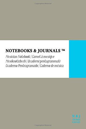 Cuaderno de Música Notebooks & Journals, Pocket, Gris, Tapa Blanda: (10.16 x 15.24 cm)(Cuaderno Pentagramado, Libreta Pentagrama, Bloc de Música) por Notebooks & Journals