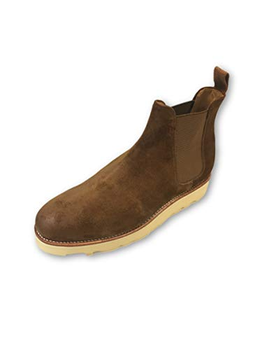 G.H. Bass & Co Monogram Wedge Chelsea Boot in Brown sue Size 8 Suede
