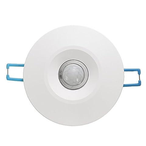 MASUNN 360 ° Infrarouge Ir Mur De Plafond Détecteur De Capteur De Mouvement Encastré Interrupteur Automatique De Lumière