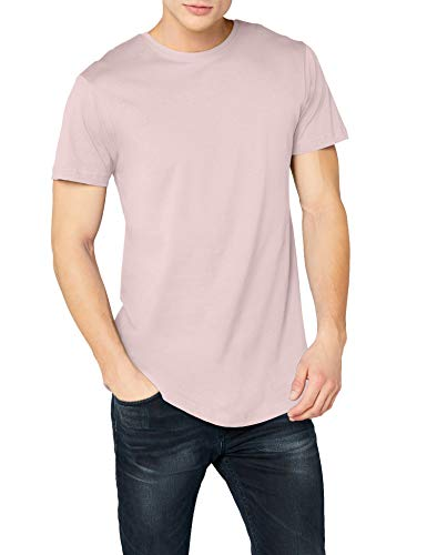 Urban Classics Herren T-Shirt Shaped Long Tee TB638, Rosa (pink), L