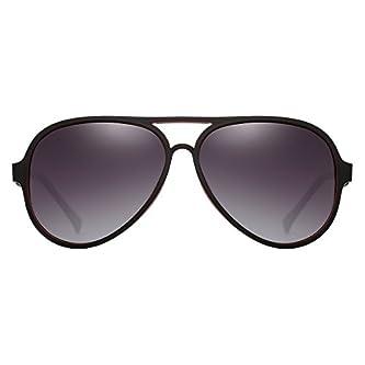 d66cfb0f40a Now on Amazon. PARIM Gradient Polarized   UV Protected Aviator Plastic    Metal Sunglasses ...