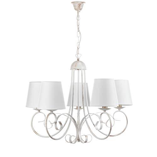 Onli pompei lampadario con paralumi, bianco