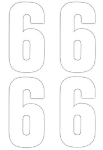 Numéro 4 x 6 Stickers pour poubelle à roulettes
