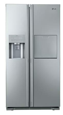 LG GS5162AELZ Side-by-Side Kühl-Gefrier-Kombination (A++, 354 LKühlen, 173 LGefrieren, Eis-, Crushed Ice- und Wasserspender, LED Innenbeleuchtung) brushed steel