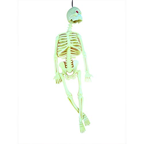 (ZREAL Horrible Halloween Skelett Modell Schädel Skelett Halloween Hängende Requisiten Scary Party Dekoration)