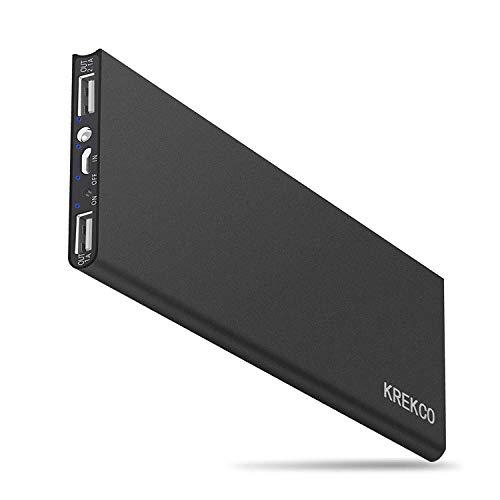 KREKCO Powerbank 10000mAh Externer Akku Handy-Ladegerät für Smartphone mit 1.5 A High-Speed-Eingang 3.1A Dual-Port Ausgabe Externe Batterie