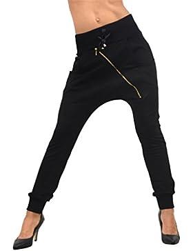 Zeta Ville Pantaloni del Harem Treggings Dettagli Chiusura Lampo - donna - 150z