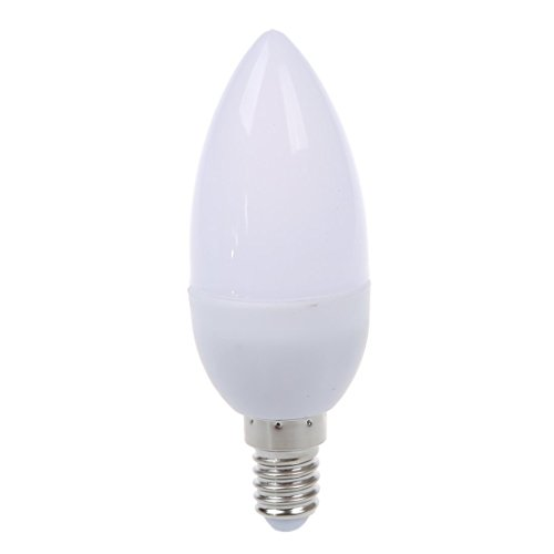 SODIAL(R) Bombilla luz lampara vela foco 6 LED E14 3W SMD 5630...