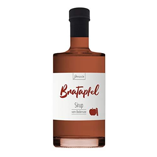Bratapfel-Sirup 700ml - Genüssle Apfelsirup vom Bodensee - Bratapfel Sirup - Äpfel vom Bodensee - natürlich ohne Zusatzstoffe