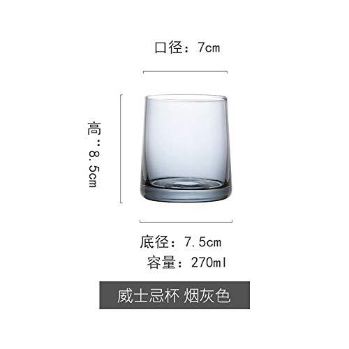 Whiskey Glass Wine Glasses Neuheit Biergläser Glastassen Tee Kleine Größe Vintage Party Bar Prost Set 2 of Grau