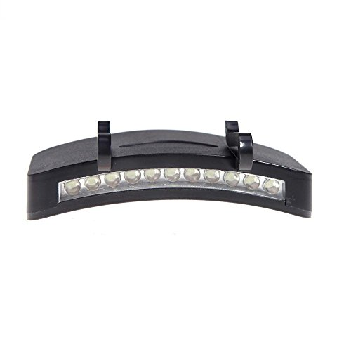 lightahead lacapltexx01Super Hell 11LED hat Cap Lampe Camping/Angeln Clip Hat Visier Lampe Notfall Scheinwerfer