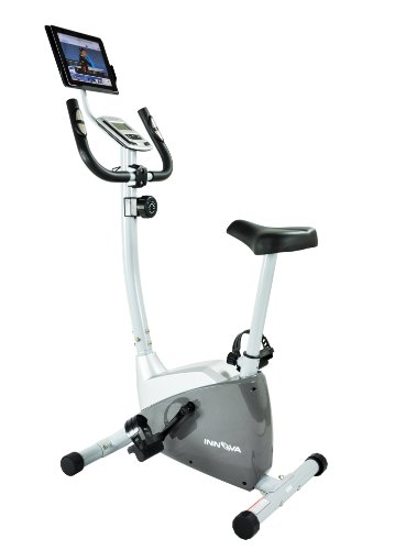 Innova Health and Fitness Upright Bike with iPad/Android Tablet Holder