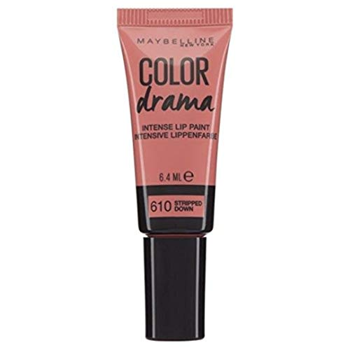 Maybelline New York Color Drama Lip Paint Tinta Labbra, 610 Stripped Down