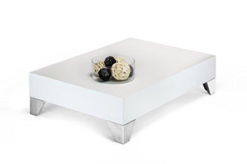 Mobilifiver Evolution 90 Table de Salon en Bois Blanc Finition frêne, 90 x 60 x 24 cm