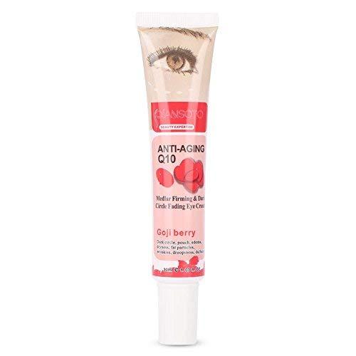 Crema para ojos para contorno de Ojos Antiarrugas Anti-edad para ojeras bolsas patas de gallo e hinchazón Natural Goji Berry Eye Gel Crema para día/noche hidratante