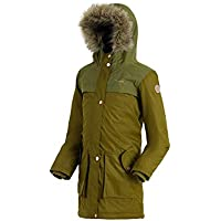 Regatta Halimah Waterproof and Breathable Insulated Reflective Parka Chaqueta, Infantil, Utility Green, Talla 11-12