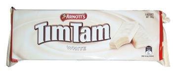 Tim Tam Weiße Schokolade Biskuitplätzchen 165G