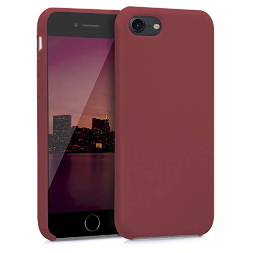 kwmobile Apple iPhone 7/8 Cover - Custodia per Apple iPhone 7/8 in Silicone TPU - Back Case Cellulare Rosso Indiano
