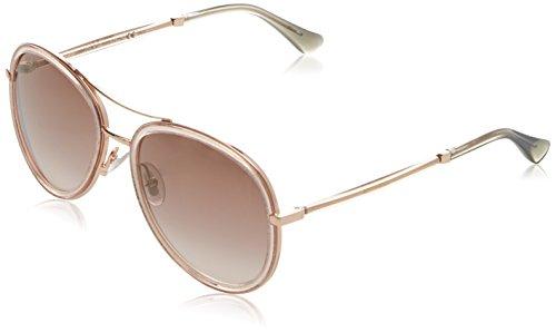 Jimmy Choo Damen TORA/S NH QBQ 57 Sonnenbrille, Pink Glitterpk/Brown Ms Gld